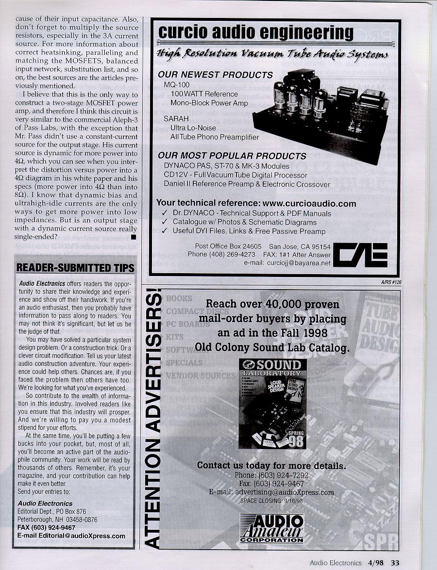 Andrea Ciuffoli Documentation Page 10 Watt Amplifier Circuit Diagram 3 Igbt Audio